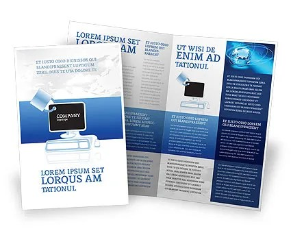 Computer Shield Software Brochure Template Design and Layout