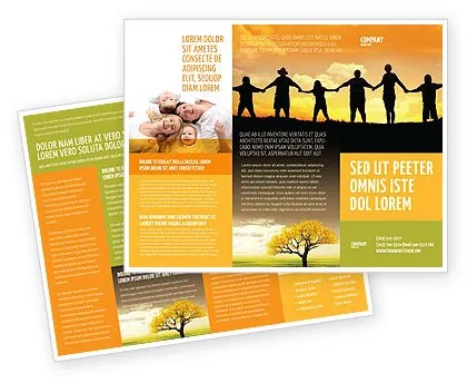 Family Brochure Template Design and Layout, Download Now, 02761