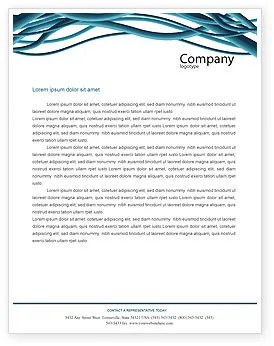 Free Letterhead Templates Aqua Blue Wires Letterhead Template Layout For Microsoft