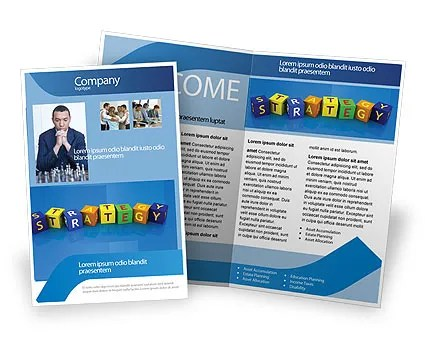 Business Strategy Education Brochure Template Design and Layout