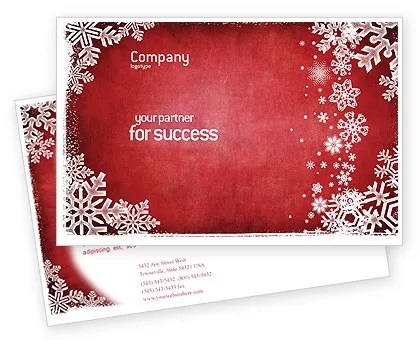 Christmas Theme Postcard Template in Microsoft Word, Adobe InDesign - free microsoft word postcard template