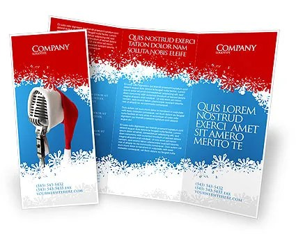 Christmas Songs Brochure Template Design and Layout, Download Now