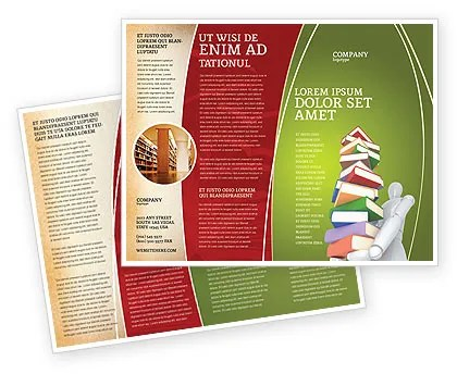 Books Stack In Hands Brochure Template Design and Layout, Download