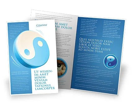 Blue Yin Yang Brochure Template Design and Layout, Download Now - religious brochure