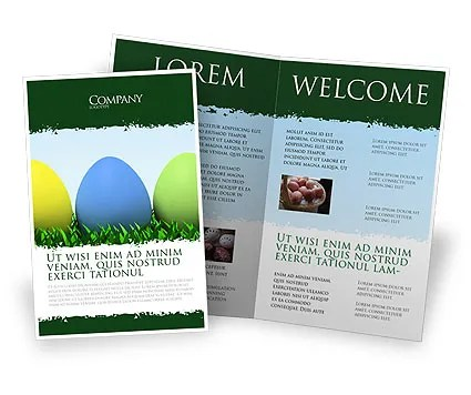 Easter Eggs Brochure Template Design and Layout, Download Now, 03396