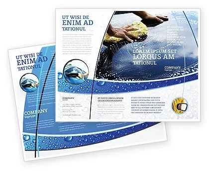 Car Wash Brochure Template Design and Layout, Download Now, 03576 - car wash flyer template