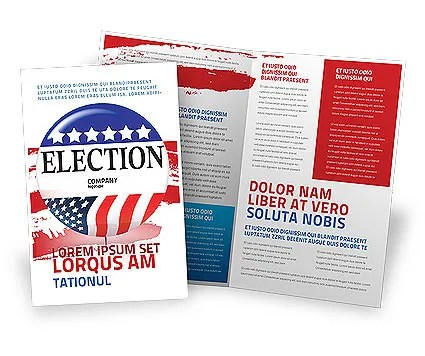USA Elections Brochure Template Design and Layout, Download Now
