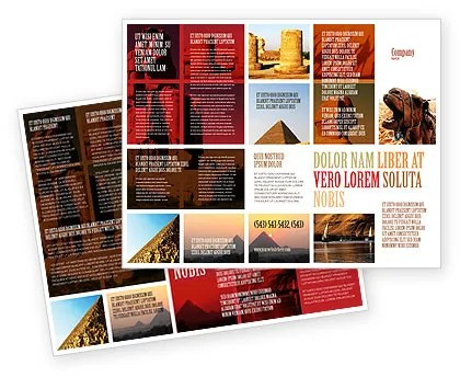 Traveling Brochure Template Design and Layout, Download Now, 03640 - Vacation Brochure Template