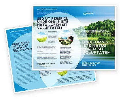 Landscape Brochure Template Design and Layout, Download Now, 03688