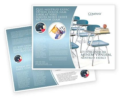 School Desk In A Classroom Brochure Template Design and Layout
