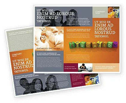 Visual Education Brochure Template Design and Layout, Download Now