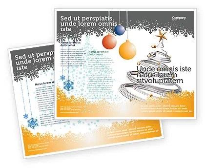New Year Tree Brochure Template Design and Layout, Download Now