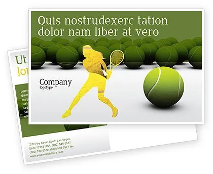 Tennis Balls Postcard Template in Microsoft Word, Adobe InDesign - tennis flyers templates free