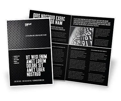 Black Grid Brochure Template Design and Layout, Download Now, 04358 - black flyer template