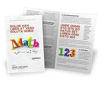Math Addition Brochure Template Design and Layout, Download Now