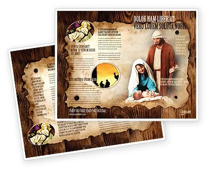 Birth of Christ Brochure Template Design and Layout, Download Now