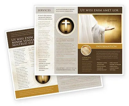 St Family Religion Brochure Template Design and Layout, Download Now