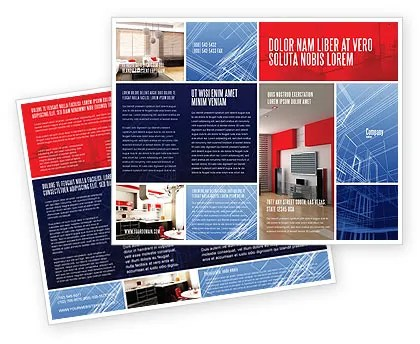 Interior Design In 3D Modeling Brochure Template Design and Layout