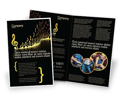 Modern Music Brochure Template Design and Layout, Download Now - music brochure
