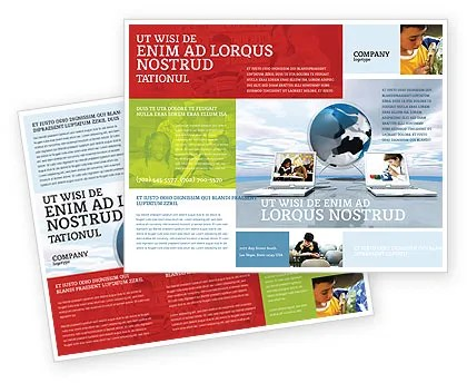 Education Foundation Brochure Template Design Senior Project - advertisement brochure