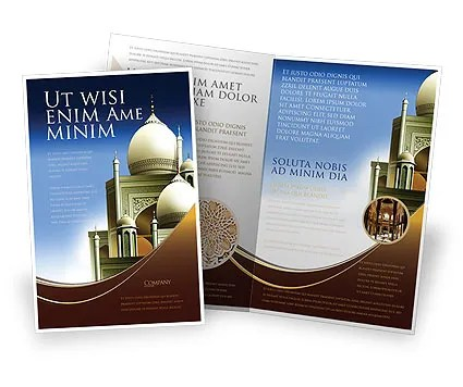 Islamic Architecture Brochure Template Design and Layout, Download - architecture brochure template