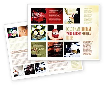 Wedding Brochure Template Design and Layout, Download Now, 05101 - wedding brochure template