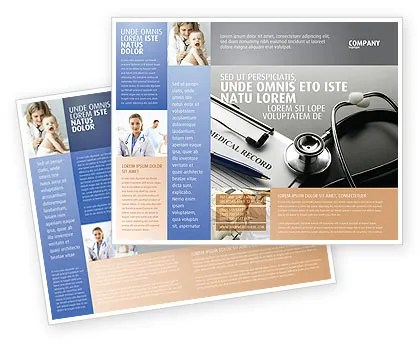 Medical Record Blank Brochure Template Design and Layout, Download
