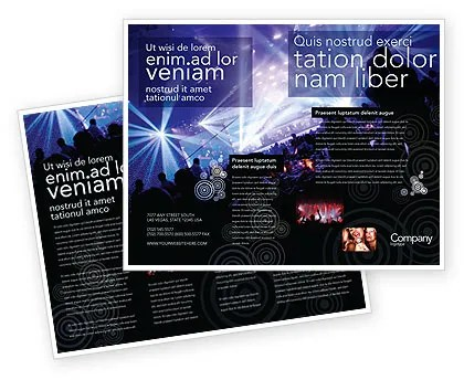 Music Show Brochure Template Design and Layout, Download Now, 05126