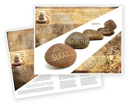 Feng Shui Stones Brochure Template Design and Layout, Download Now