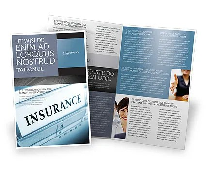 Insurance Brochure Template Design and Layout, Download Now, 05253 - insurance flyer templates