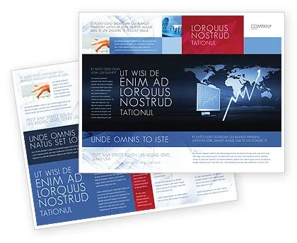 Stock Market Jumping Rate Brochure Template Design and Layout - market template