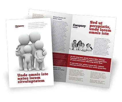 3D Family Brochure Template Design and Layout, Download Now, 05970