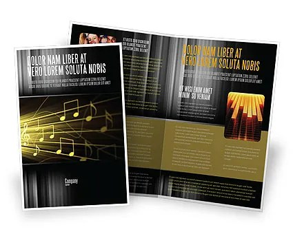 Music Stave Brochure Template Design and Layout, Download Now, 06089