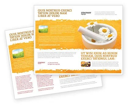 Herbal Medicine Brochure Template Design and Layout, Download Now