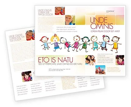 Funny Kids Brochure Template Design and Layout, Download Now, 07045
