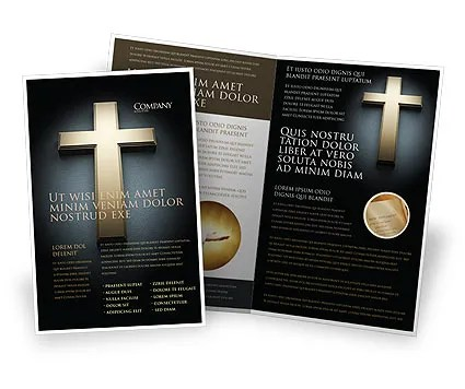 Cross In The Dark Brochure Template Design and Layout, Download Now - religious brochure