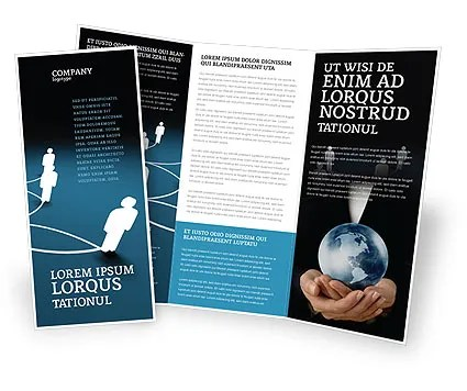 Social Network Scheme Brochure Template Design and Layout, Download