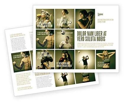 Sport Activities Brochure Template Design and Layout, Download Now