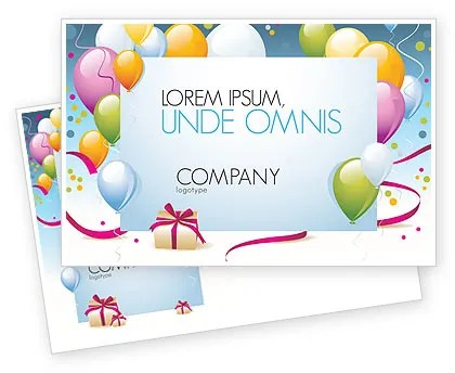 Greeting Card Postcard Template in Microsoft Word, Adobe InDesign - Microsoft Word Postcard Template
