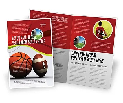 Sport Balls Brochure Template Design and Layout, Download Now, 08071 - sports brochure
