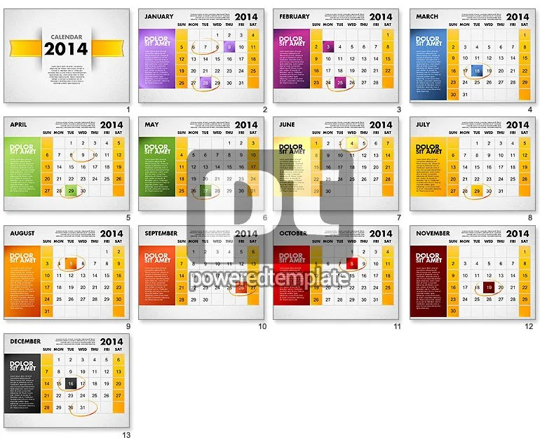 Quarterly Calendar Template Powerpoint Personalised Advent Calendar Uk