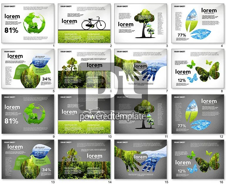 Ecology Silhouettes Presentation Template for PowerPoint