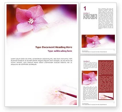 Flower Painting Word Template 01543 PoweredTemplate - free word background templates