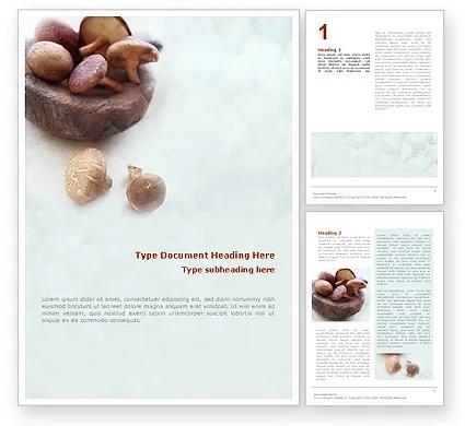 Free Mushroom Word Template 01562 PoweredTemplate