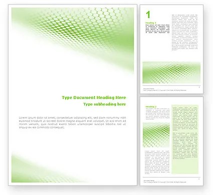 Green Grid Word Template 01585 PoweredTemplate