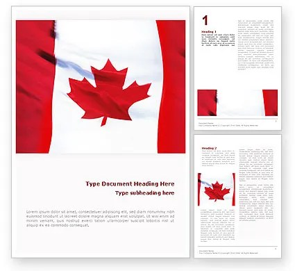 Canadian Flag Word Template 01654 PoweredTemplate - american flag background for word document