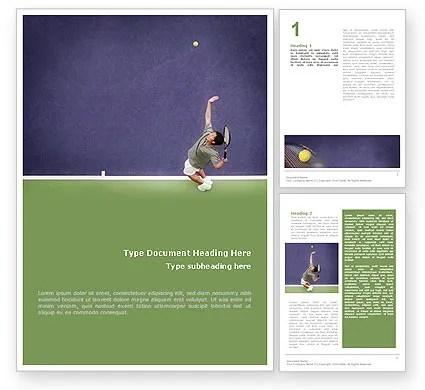 Tennis Word Template 01697 PoweredTemplate