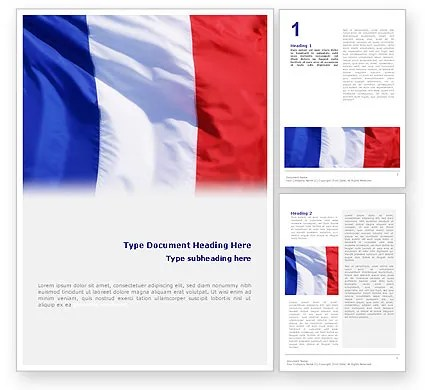 French Flag Word Template 01805 PoweredTemplate - word flag