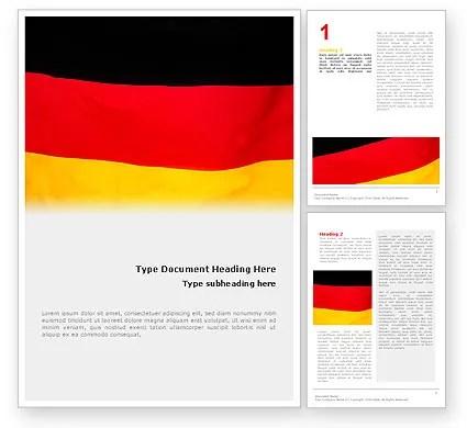 German Flag Word Template 01837 PoweredTemplate - word flag