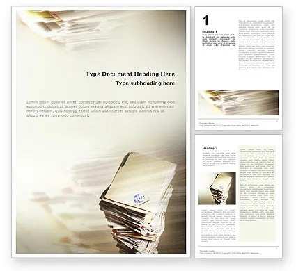 Feature Article Word Templates Design, Download now